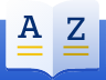 Illustration of open book with letter A on left and letter Z on right